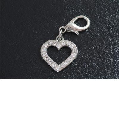 Halsband-Anhänger Strass - Herz