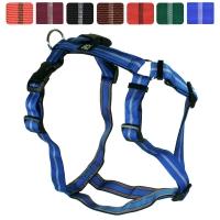Feltmann Hundegeschirr Standard Streifen blau/Streifen weiß / 35 - 50 cm / 03 bis 06 kg / 15 mm