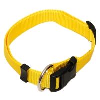 Gelbes günstiges Hundehalsband Nylon Uni WienerLock Steckschloss®