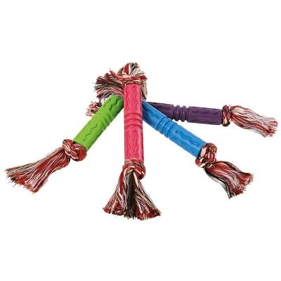 Gummistab mit Seil - Hundespielzeug