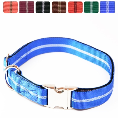 Hundehalsband Nylon Streifen AluMax®