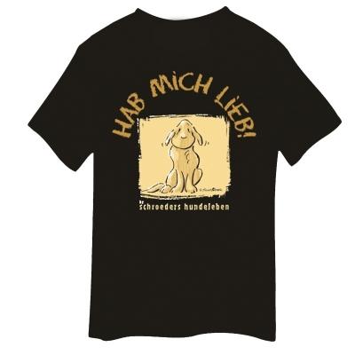 T-Shirt mit Hundemotiv - Hab mich Lieb