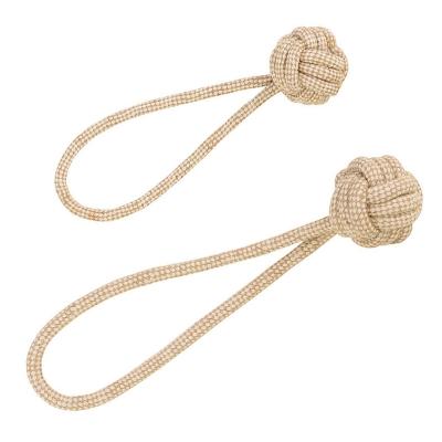 Ball am Seil Naturfaser – Hundespielzeug aus Baumwolle und Jute