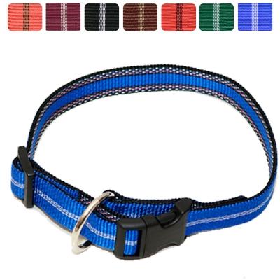 Hundehalsband Nylon Streifen WienerLock Steckschloss®